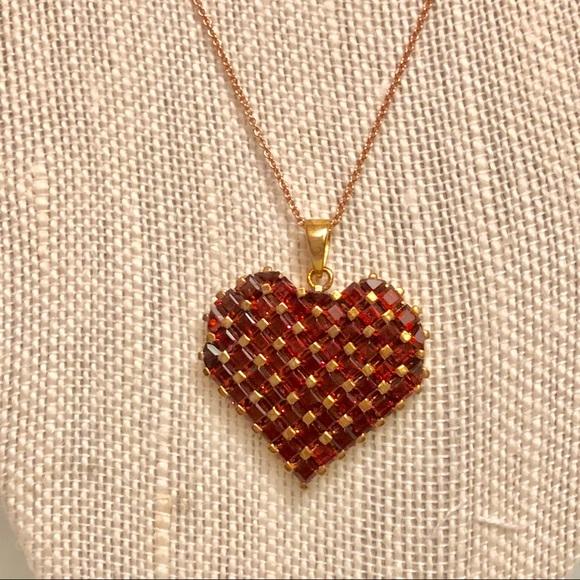 Jewelry large garnet heart pendant poshmark large garnet heart pendant aloadofball Choice Image